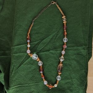 Jewelry - Costume necklace wooden and beaded jewelry